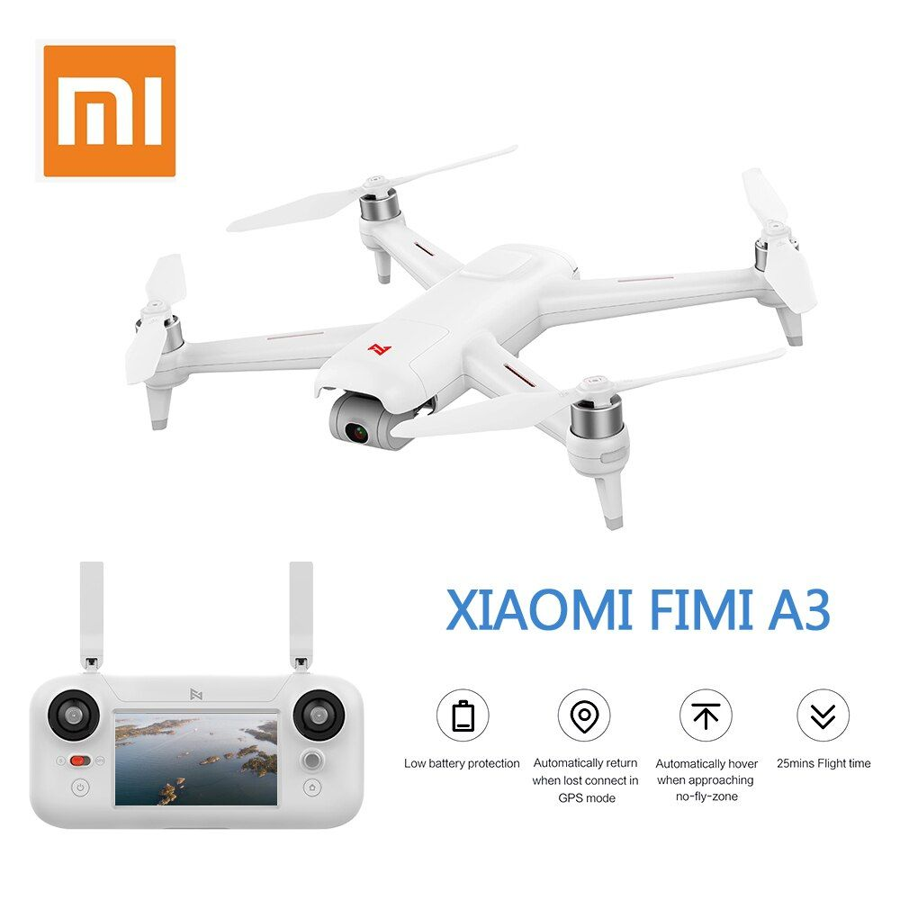 Presale Xiaomi FIMI A3 5.8G GPS Drone 1KM FPV 25 Minutes With 2-axis Gimbal 1080P Camera RC Quadcopter RTF Racing Models
