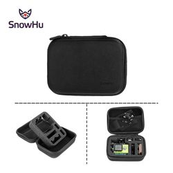 SnowHu Black Shockproof Accessories Small Size Travel Storage Collection Bag Box Case For GoPro Hero 6 5 4 for xiaomi yi 4k GP83