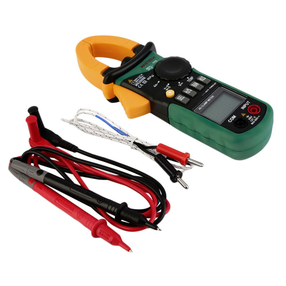 Hot Worlwide AC/DC Digital Multimeter Electric Tester Current Clamp Meter Ammeter MS2008B New
