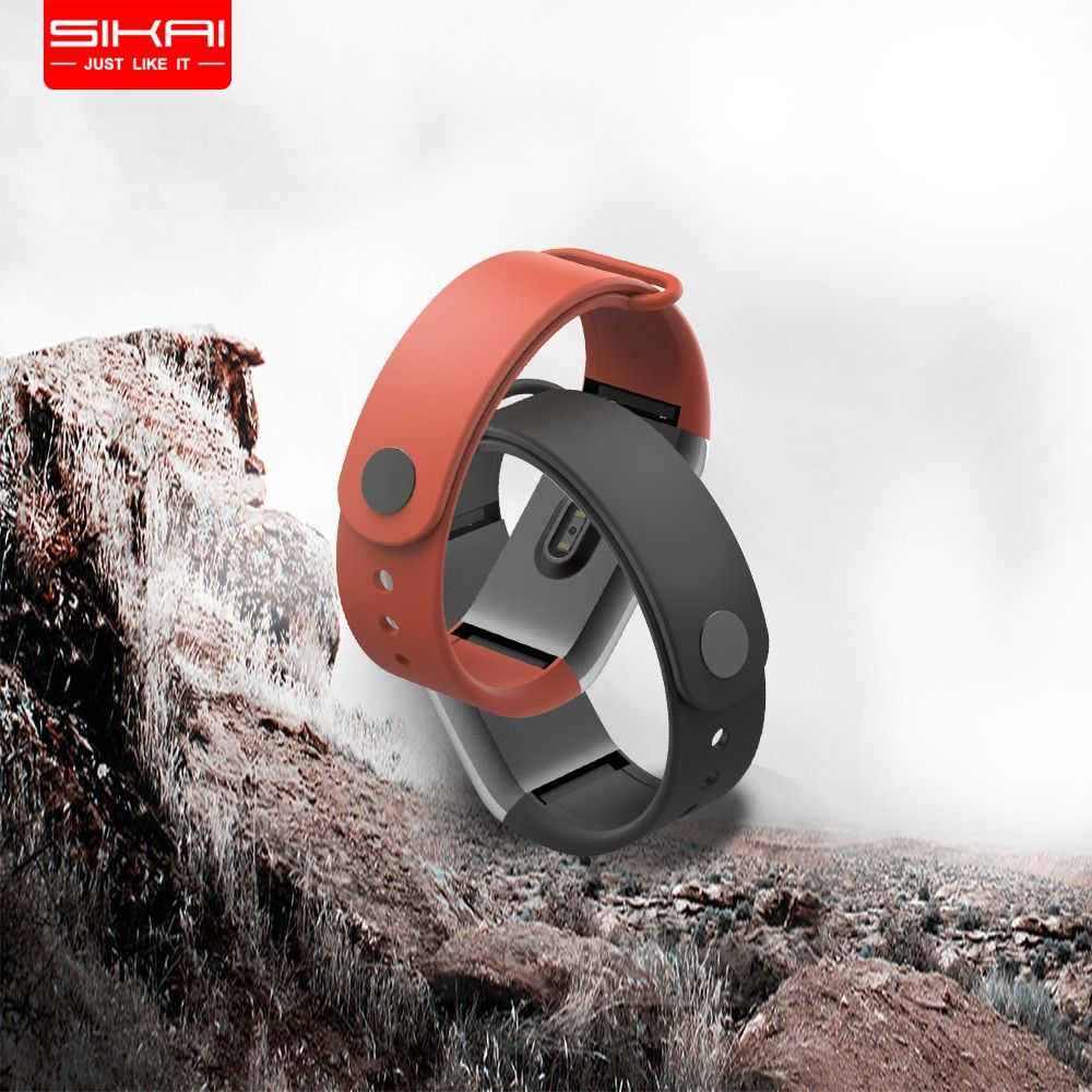 SIKAI Prévente Sillicone Bracelet pour Huami Amazfit Cor Remplacement Confortable Coloré Bracelet Bracelets Montres pour Huami Amazfit Cor