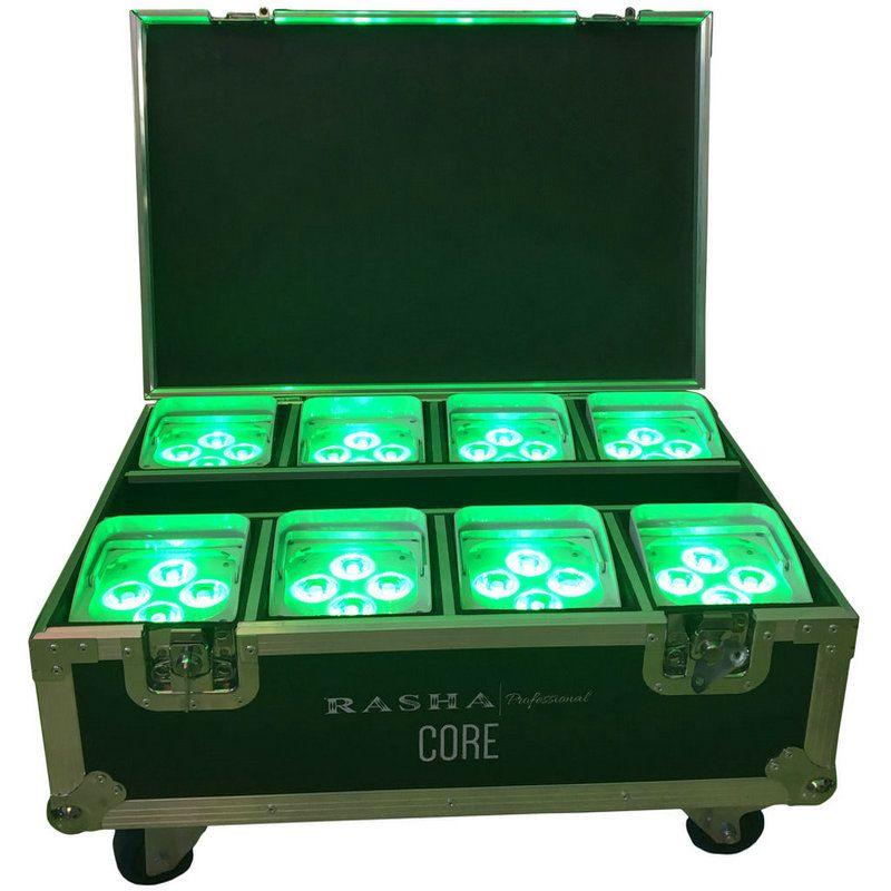 8X LOT IRC Remote Control Wifi APP Smart LED UPLIGHT 4*18W 6in1 RGBAW UV Battery Wireless Stage LED Par Light With Flight Case