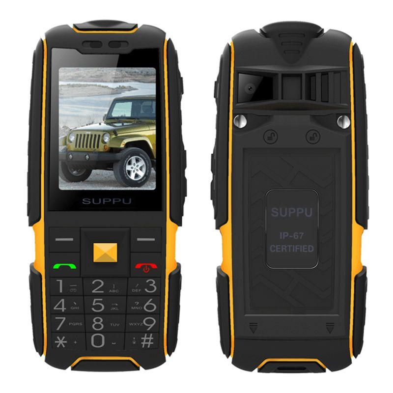 SUPPU X6000 Russische lange standby-Dual-Karte energienbank FM radio stoßfest IP67 100% echte wasserdichte Robuste handy P061