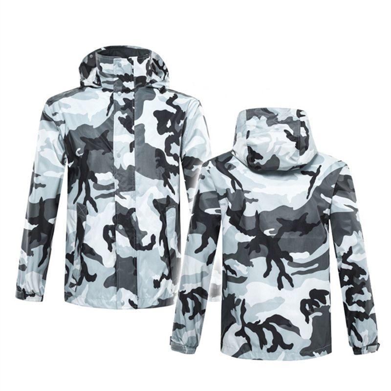 Adult outdoor rainproof camouflage raincoat raingear men and women waterproof rainsuit rainwear rain poncho coat pant suit