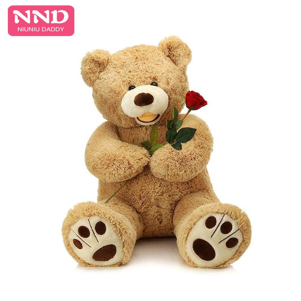 Niuniu papa peluche animaux jouet ours américain 160 cm doux ours en peluche manteau vide jouet peau peluche ours géant jouet peau non peluche enfant