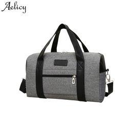 Aelicy قماش الرجال السفر أكياس كبيرة قدرة المرأة الأمتعة السفر حقائب قماش جديد وصول الرجال عارضة المحمولة حقائب كتف