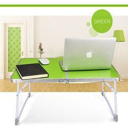 Aluminio plegable portátil mesa de picnic partido PC portátil escritorio portátil cama bandeja de escritorio