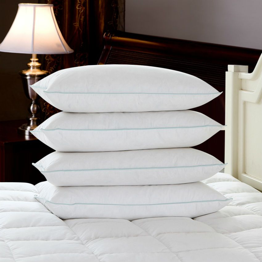 Peter Khanun New Brand Design White Duck Feather Pillows Neck Health Care Pillow 100% Cotton Shell Allow Feather To Breathe 009