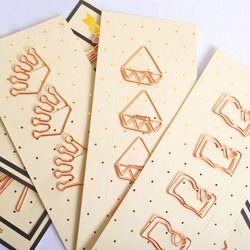 4 Buah/Set Flamingo/Berlian/Crown/Rose Merah/Emas Kertas Klip Lucu Kawaii Bookmark Memo Klip untuk peralatan Kantor Sekolah Stationery