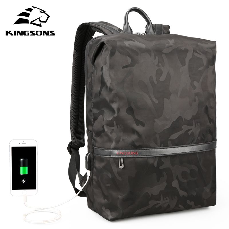 Kingsons Lightweight Soft Men Women Fashion Leisure Backpack Travel Backpack 15.6 inches Laptop Backpack Student School Bag