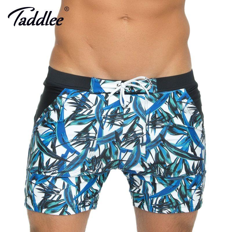 Taddlee Brand Sexy Men's Swimwear Swim Boxer Trunks Long Basic Swimming Board Shorts Surfing 3D High Rise Swimsuits Big Size XXL