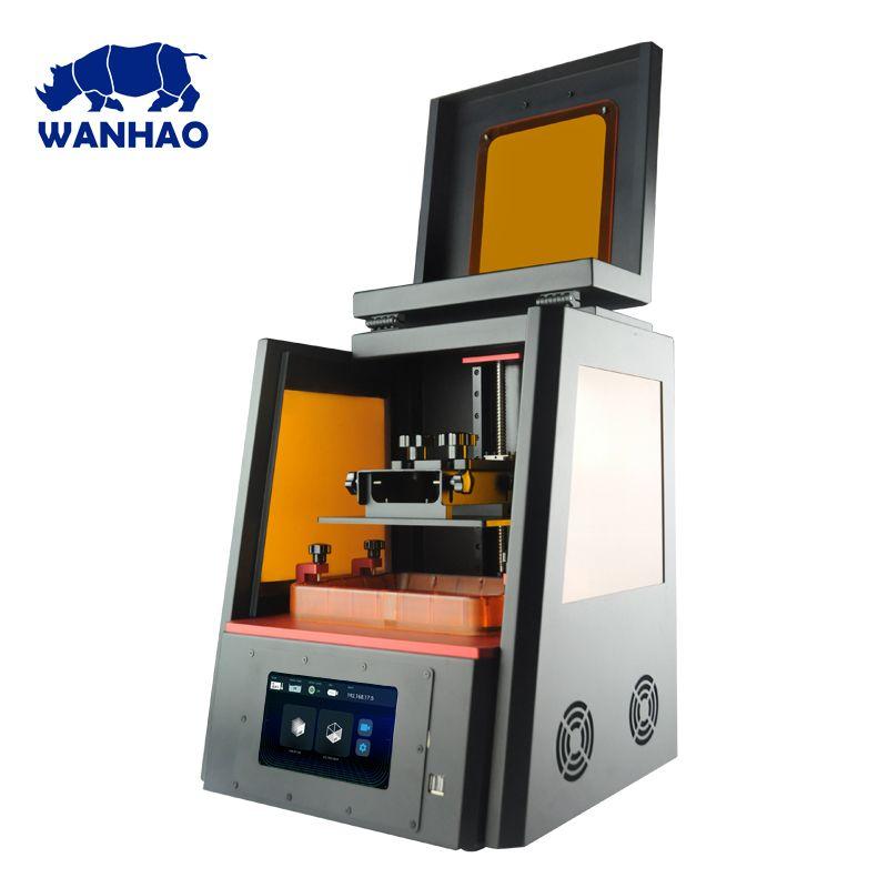 WANHAO Fabrik Direkt Verkäufe 3D Drucker D8 DLP LCD Schmuck Dental Farbe Touch Screen 405nm UV Harz Hohe Präzision WiFi plus Größe