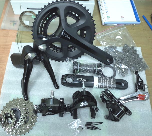 !Shimano 5800 105 groupsets Road Bike Groupset 170/172.5 50-34 53-39 Bicycle Group Set 2*11 speed,5810 direct mount is available