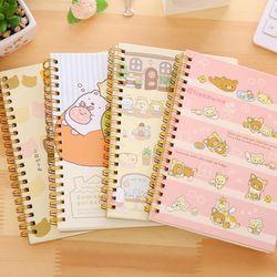 Kawaii Spirale Bobine Notebook/Journal Agenda/livre De Poche/Bureau Fournitures Scolaires De Bande Dessinée Japon Rilakkuma & Sumikkogurashi