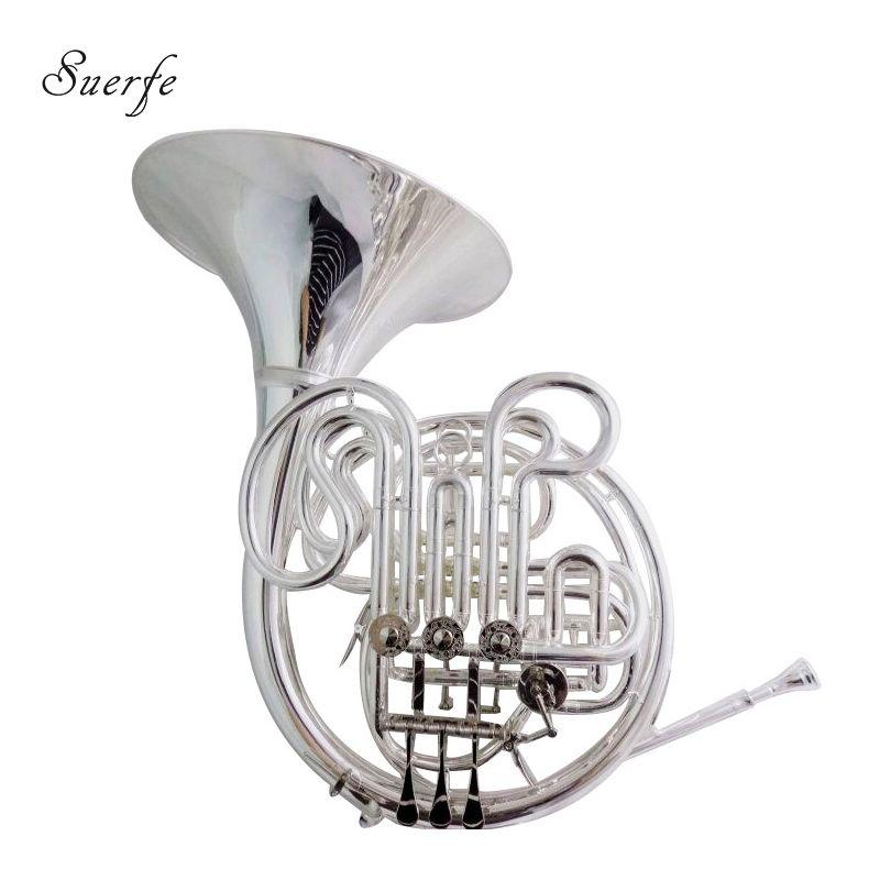 Alexander 103 Französisch Horn F/Bb Zweireihig Silber Überzogene Finish mit Fall und Mundstück Musical Instruments Professionelle