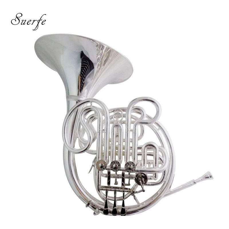 Alexander 103 French Horn F/Bb Double Row Silver Plated Finish with Case and Mouthpiece Musical Instruments Professional