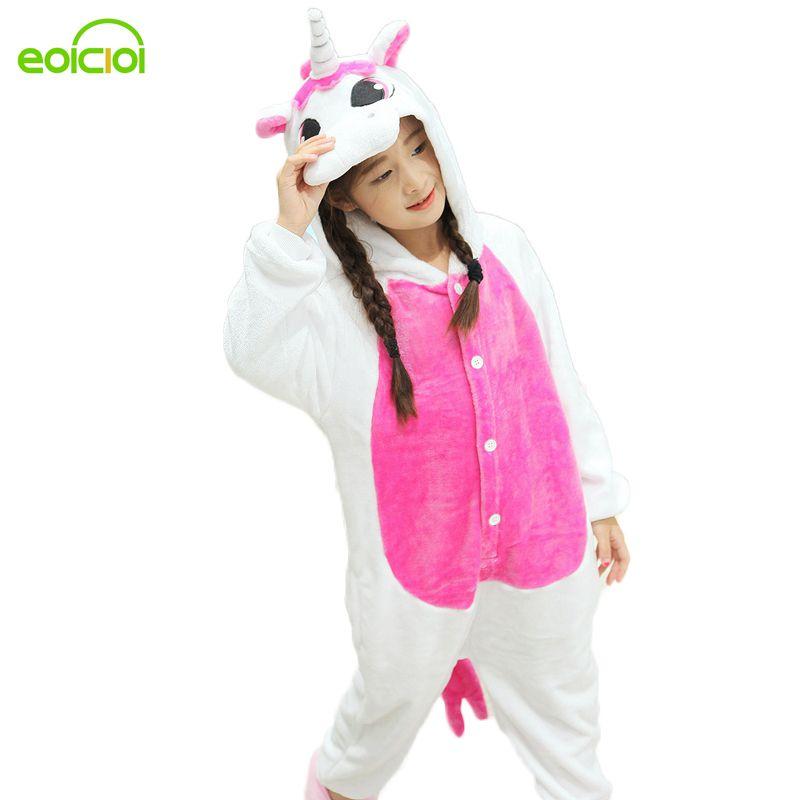 EOICIOI New Pijamas kids winter animal cartoon unicorn onesie unicorn costume child boys girls pyjama christmas kids pajama sets
