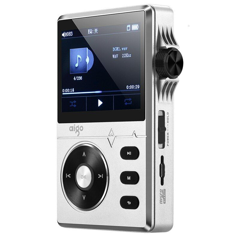 New Original Aigo MP3-108 High-quality 8G Portable Audio Lossless Hifi Music Player Support APE/FLAC/ WMA/ WAV/OGG/ACC/MP3