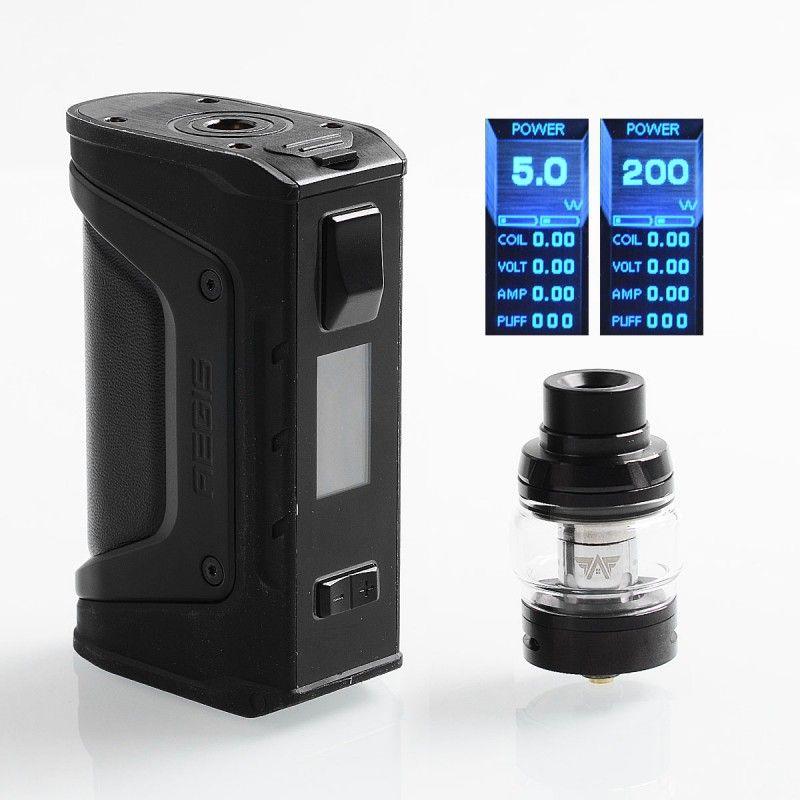 Original Geekvape Aegis Legend 200W Box Mod Kit + 4ml 25mm Aero Mesh Sub Ohm Tank Waterproof Shockproof Dustproof