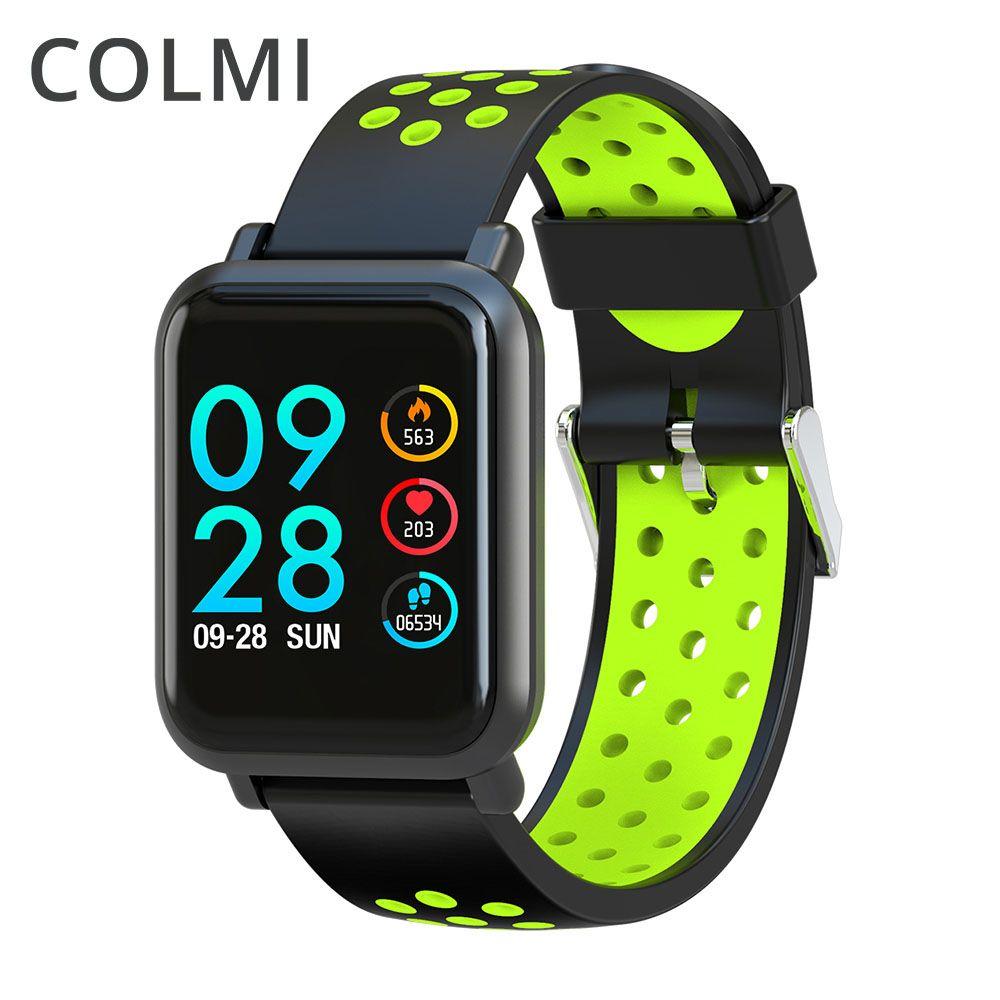 COLMI Smartwatch S9 2.5D écran gorille verre sang oxygène pression artérielle bord IP68 étanche activité Tracker montre intelligente