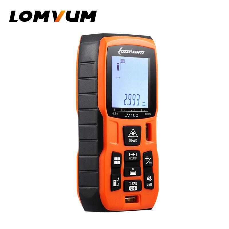 LOMVUM BatteryPowered Laser Ruler Rangefinders Digital Handheld Distance Meter Measurer Range Finder Lazer Metreler Measurement