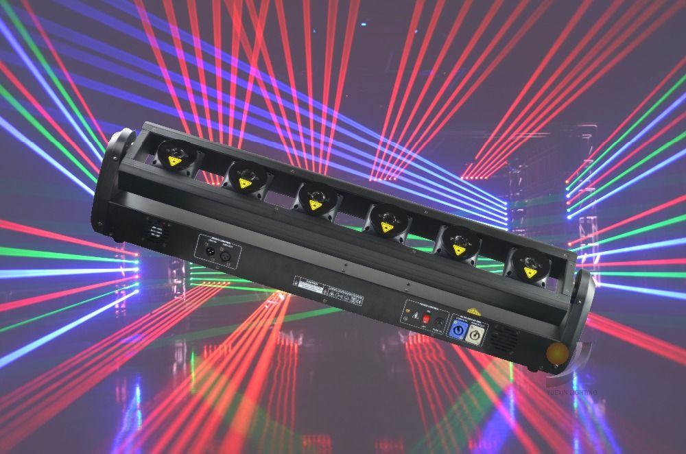 6 individuelle Steuerung Moving Head RGB Laser für Bühne Zeigen Wirkung Party Disco Club Leuchte Event Laser