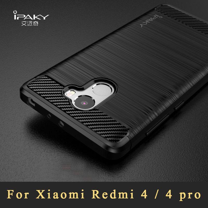 xiaomi redmi 4 case Original ipaky Brand silicone Back Cover xiaomi redmi 4 pro Silm Brushed TPU case For xiao redmi4 cases 5.0