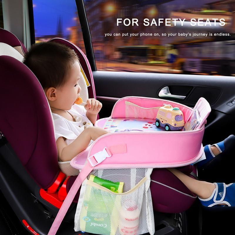 OLOEY bébé plateau de voiture plaques Portable étanche à manger Table de boisson pour enfants siège de voiture enfant dessin animé support de jouet stockage bébé clôture