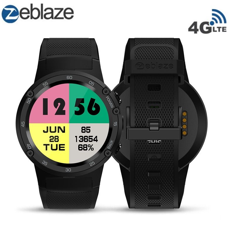 Zeblaze THOR 4 4G LTE GPS Smartwatch Phone Android 7.0 MTK6737 Quad Core 1GB RAM 16GB ROM 5.0MP Camera 4G/3G/2G Watch Phone