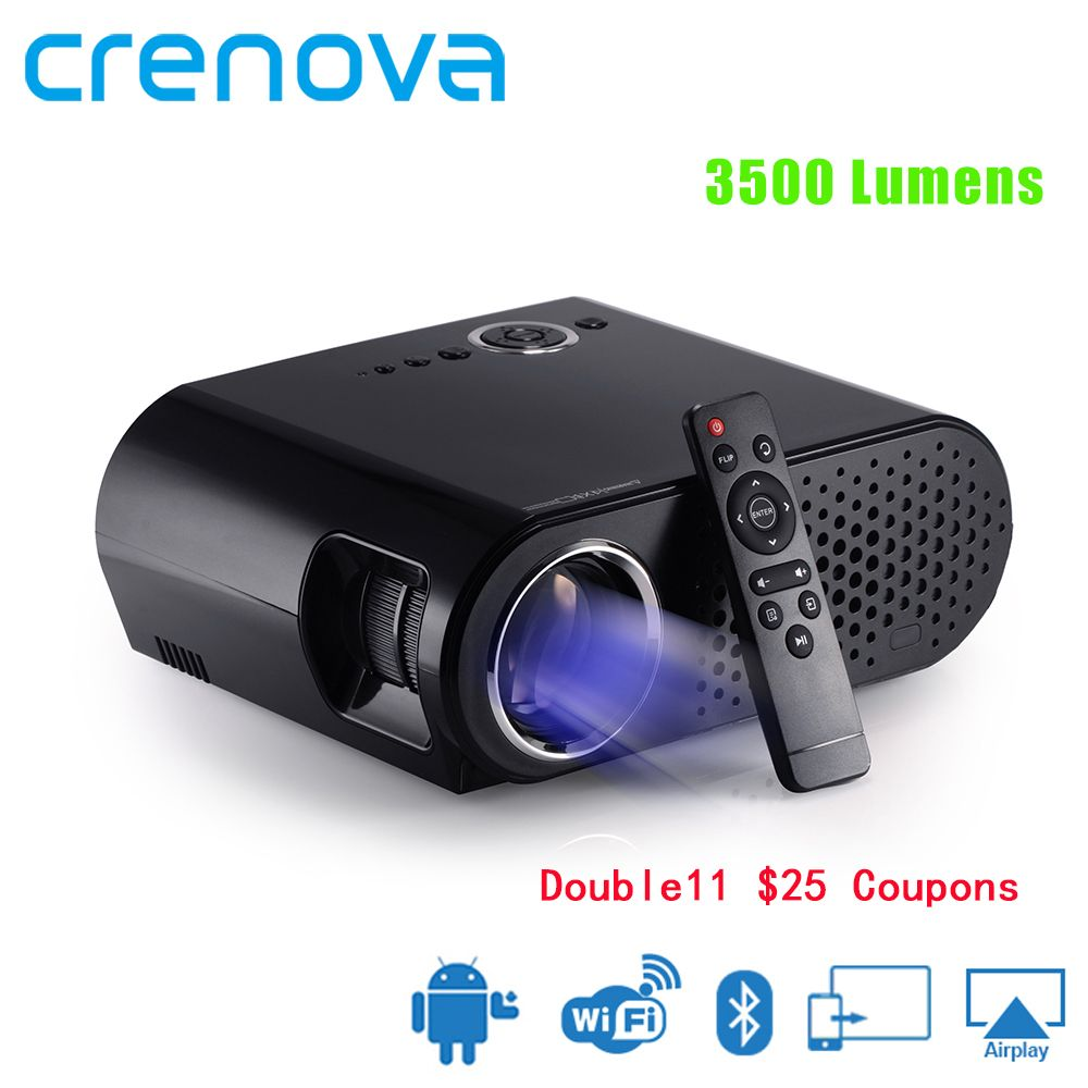 CRENOVA Video Projektor Für Volle HD 1920*1080 p Home Theater Film Projektor Mit Android Version Wifi Bluetooth Proyector beamer