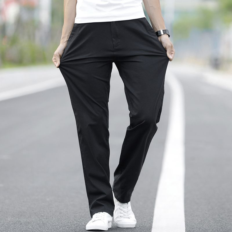 New  arrived 2018 Man Summer breathable Loose Cotton Pants for Men 3280