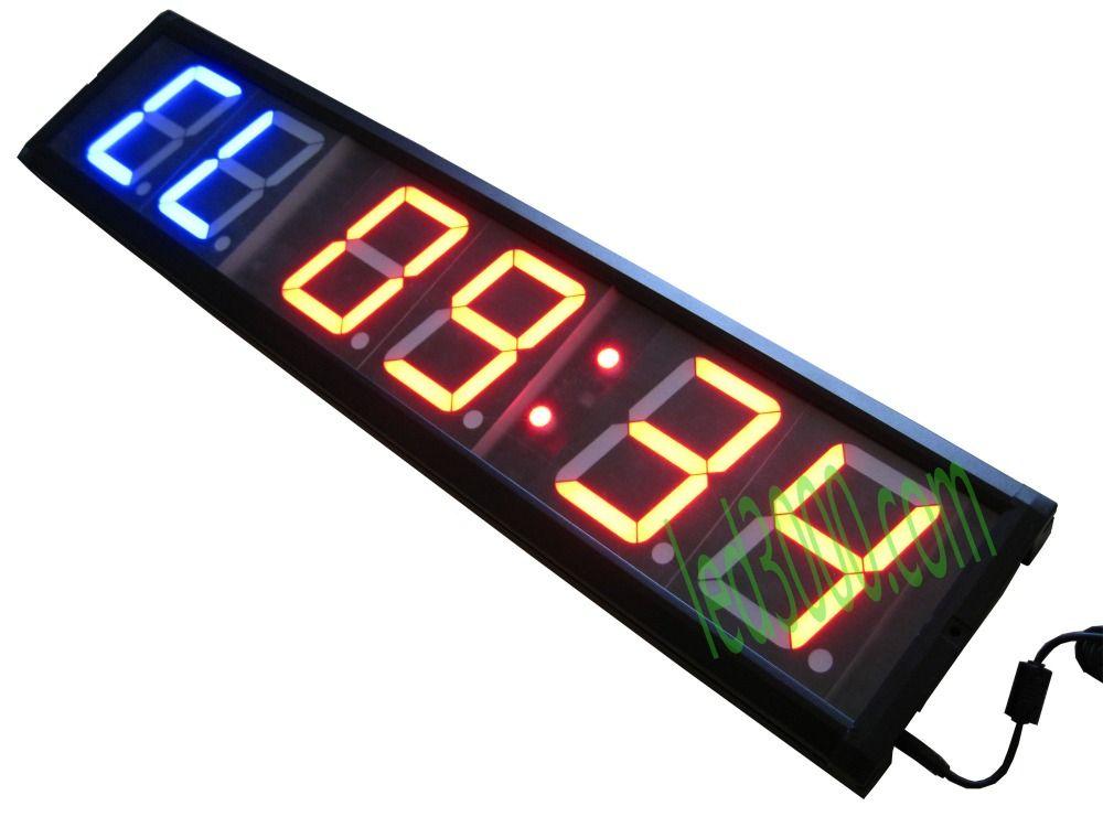 Freies verschiffen 4 zoll GYM Crossfit Timer LED Intervall-timer Ausbildung Zeit Und Ruhezeit Alternative CountdownCount Als Eine stoppuhr