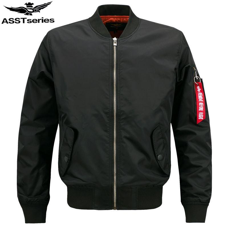 Bomber Jacket Men Plus Size Jacket For Men Military Jacket Men Mens SpringJackets And Coats Male 2017 Customize Your Logo.DA27