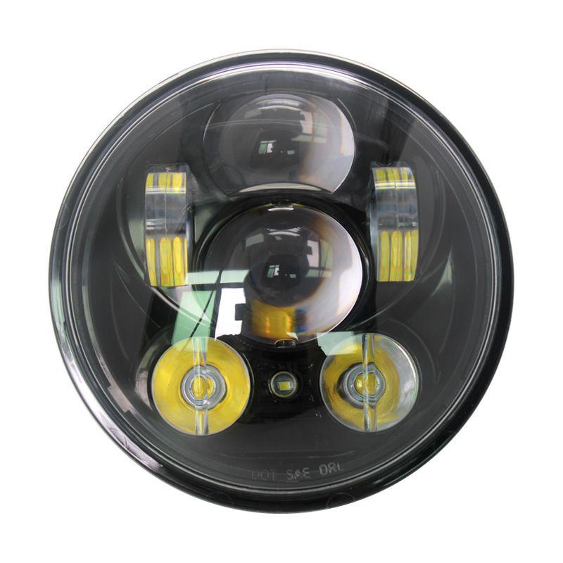 DOT Harley Daymaker 5.75 inch LED Headlamp 5 3/4 inch Daymaker LED position light for Harley Iron 883 Dyna Street Bob FXDB