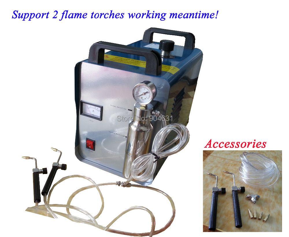 Top Sales Free Shipment HHO Generator BT-600DFP 600W 2 Flame Torches Jewelry Welding Machine Spot Welding Machine Jewelry Welder