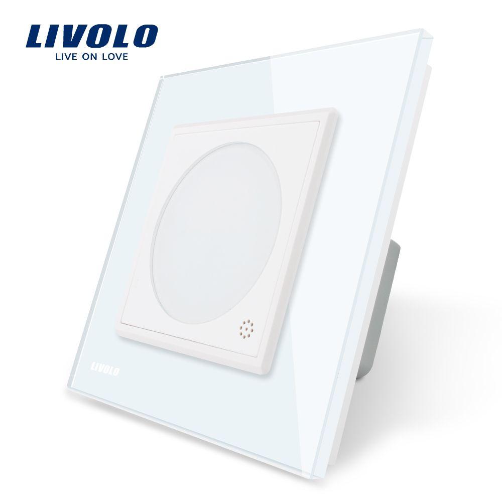 Livolo Thermostat  EU Standard  Temperature Control, Heating device , White Crystal Glass Panel , AC 110-250V,   C701TM-11
