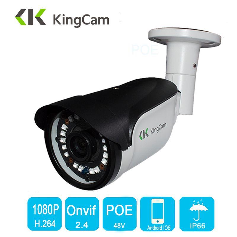KingCam 2.8mm 6mm 8mm lentille de Sécurité 48 V POE IP Caméra métal Vidéo Surveillance 1080 P 960 P CCTV Étanche extérieure 2MP Bullet Cam