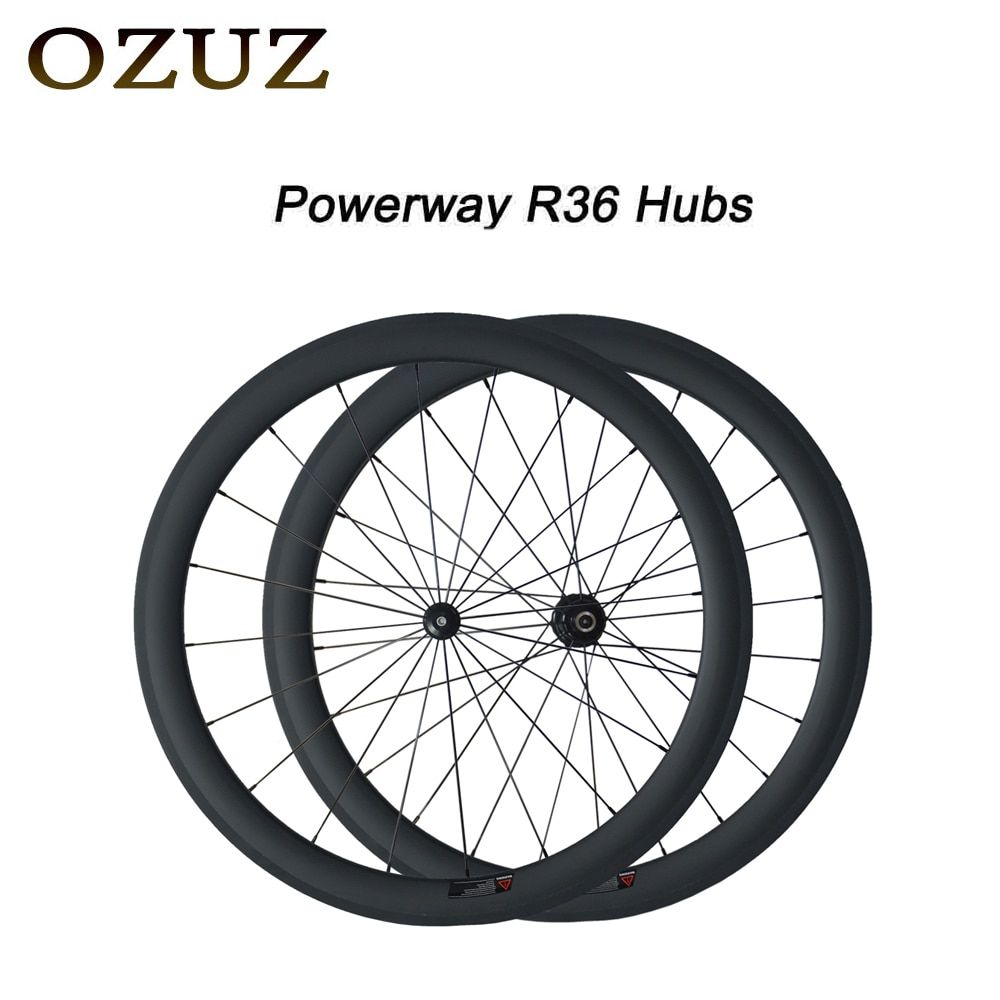 Free Custom Factory Price OZUZ 50mm Clincher Tubular Road Bike Wheelset 700C Carbon Pillar 1432 Cnpoke Cycling Carbon Wheels