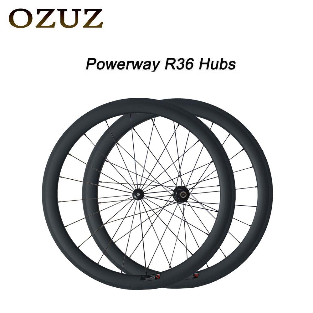 Free Custom Factory Price OZUZ 50mm Clincher Tubular Road Bike Wheelset 700C Carbon Pillar 1432 Cnpoke Cycling Carbon Wheels