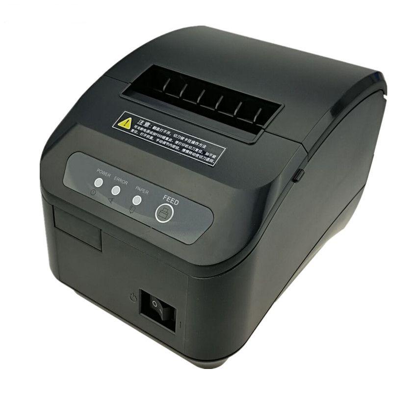 Haute qualité 80mm POS thermique imprimante ticket automatique machine de découpe vitesse d'impression Rapide USB + Série/Ethernet port peut choisir