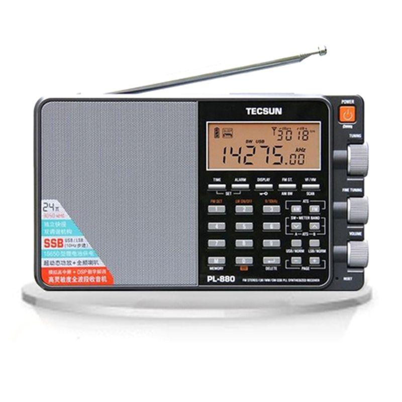 Tecsun PL-880 Hohe Leistung Volle Band tragbare Digitale Tuning Stereo Radio mit LW/SW/MW SSB PLL Modi FM (64-108 mhz)
