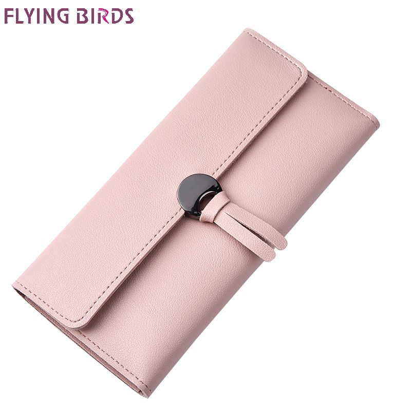 Flying birds women wallets fashion women leather purse dollar price Solid clutch Women's bag cards holder long coin purse a3499