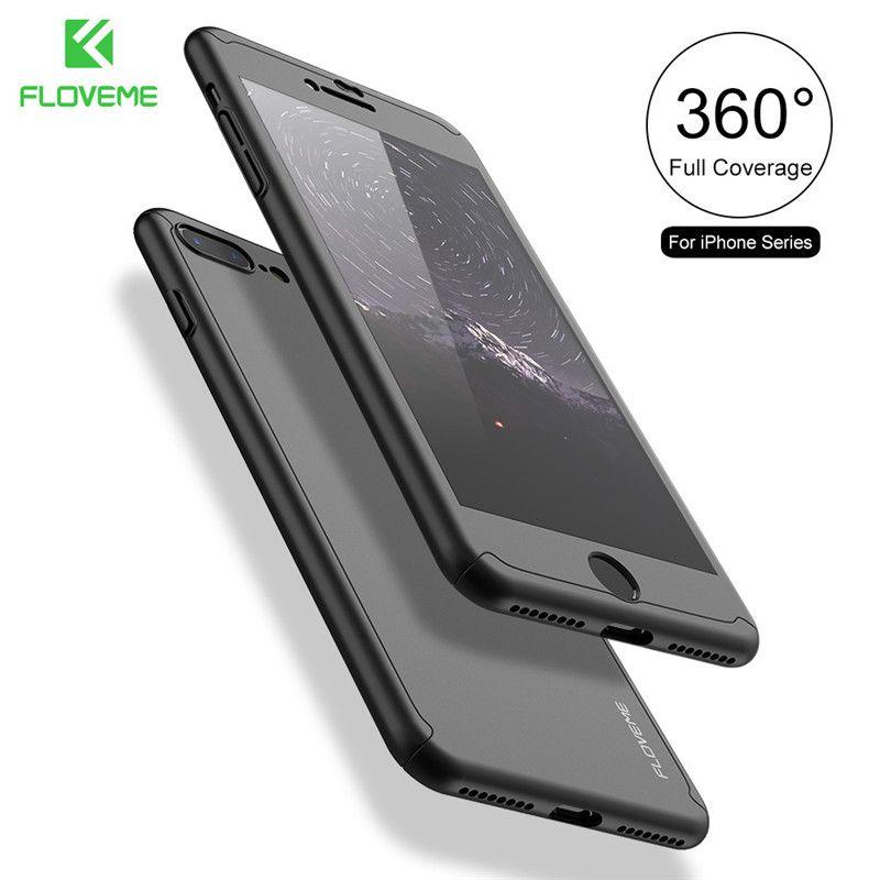 FLOVEME 360 Volle Abdeckung Fall für iPhone 7 7 Plus für iPhone 6 6 S Plus für iPhon 5 S SE mit Gehärtetem Glas Schutzfolie