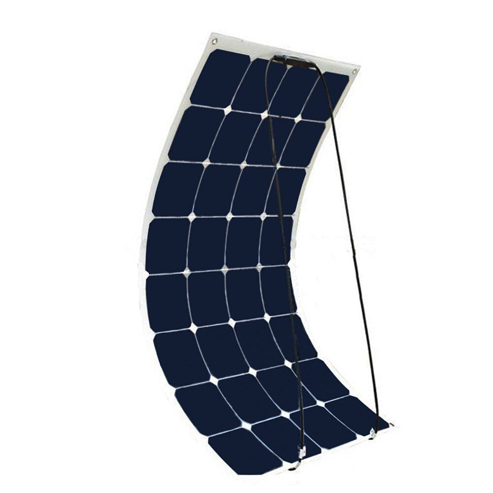 BOGUANG 18v 100 watt flexible solar panel 12V High Efficiency Class-A monocsytalline Home use placa Solar panels Cell 100W