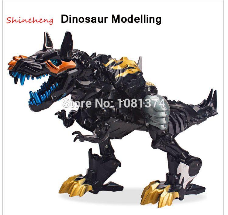 Shineheng Лидер продаж деформации 4 Гримлок модель робота-динозавра Черный ABS фигурку игрушки подарок для Обувь для мальчиков Бесплатная достав...
