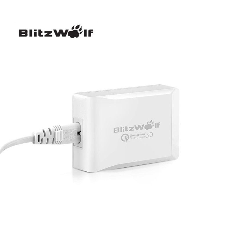 BlitzWolf BW-S7 40 W D'origine Charge Rapide QC3.0 Certifié Smart 5-Ports Haute Vitesse De Bureau USB Chargeur Adaptateur Pour Smartphone