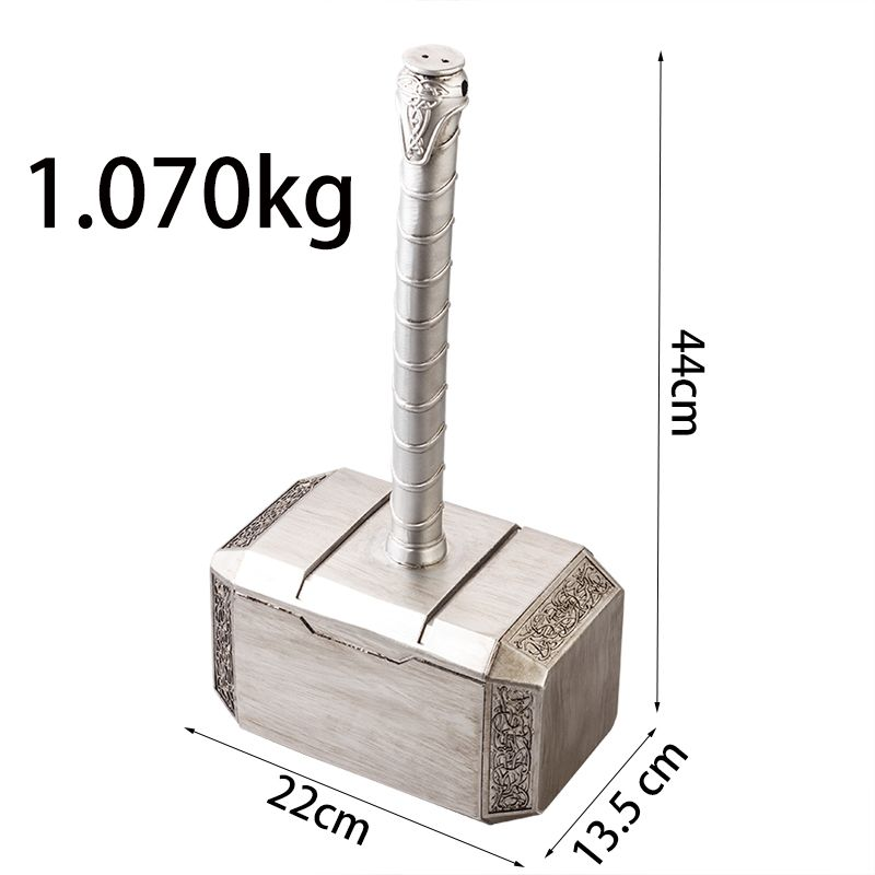 P-flame Big Size Quake Decoration Mjolnir Resin Crafts Cosplay Thor Hammer Sculpture Avengers Quake Statue