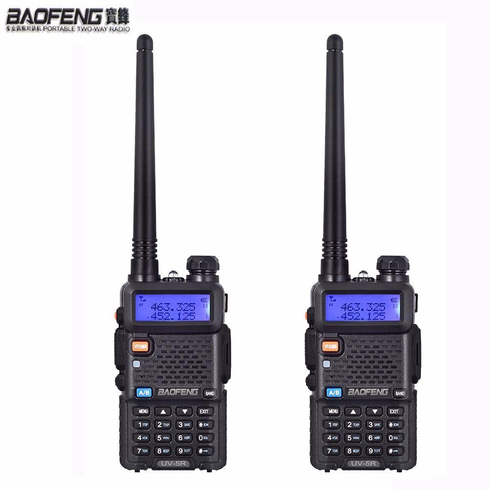 NEW 2 pcs Baofeng uv-5r ham Radio headsets Walkie Talkie 10 km For Two Way radio Station Dual Band Vhf Uhf Mobile uv5r CB amador