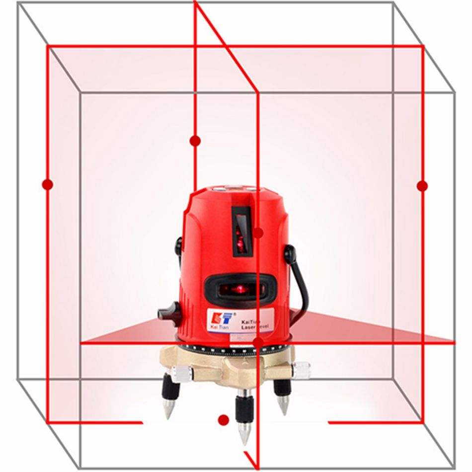 KaiTian Laser Levels 5 Lines or 12 Lines 3D Professional Laser Beam Vertical Horizontal EU Self-Leveling Cross Lazer Level Tools