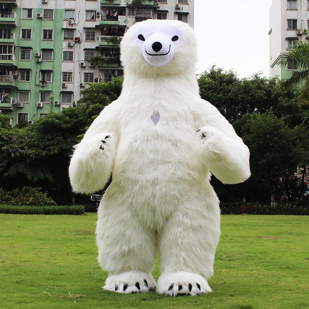 New Style Inflatable Costume Inflatable Polar Bear For Advertising 3M Tall Customize For Adult Suitable For 1.7m To 1.9m Adult
