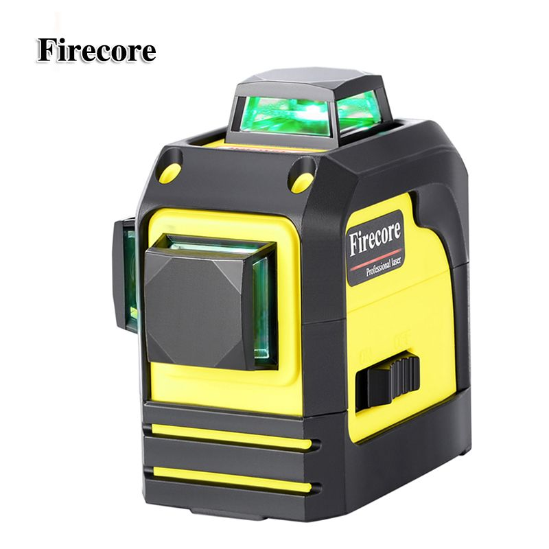 Firecore 3D 93TG 12Lines Green Laser Levels Self-<font><b>Leveling</b></font> 360 Horizontal And Vertical Cross Super Powerful Green Laser Beam Line